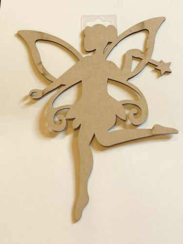 TINKERBELL  MDF ART CRAFT CUT OUT UNPAINTED FAIRY KIDS CRAFT ACTIVITY