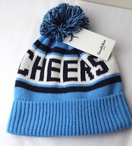 02499751a Details about CHEERS Knit Pom Stripe Hat by Goodfellow & Co ADULT One Size  BLUE WHITE NWT New