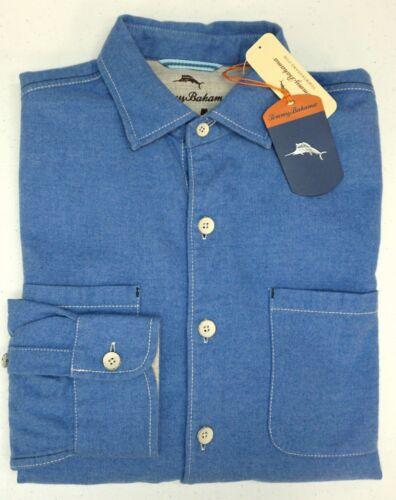NWT Tommy Bahama Long Sleeve Blue Shirt Mens XLT 2XB 2XT 3XB 3XT Button Down NWT