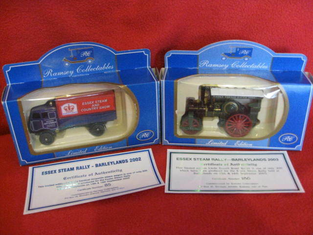 2 x x x Ramsey Collectables - Essex Steam Rally Models - Barleylands 2002 & 2003. c8176e