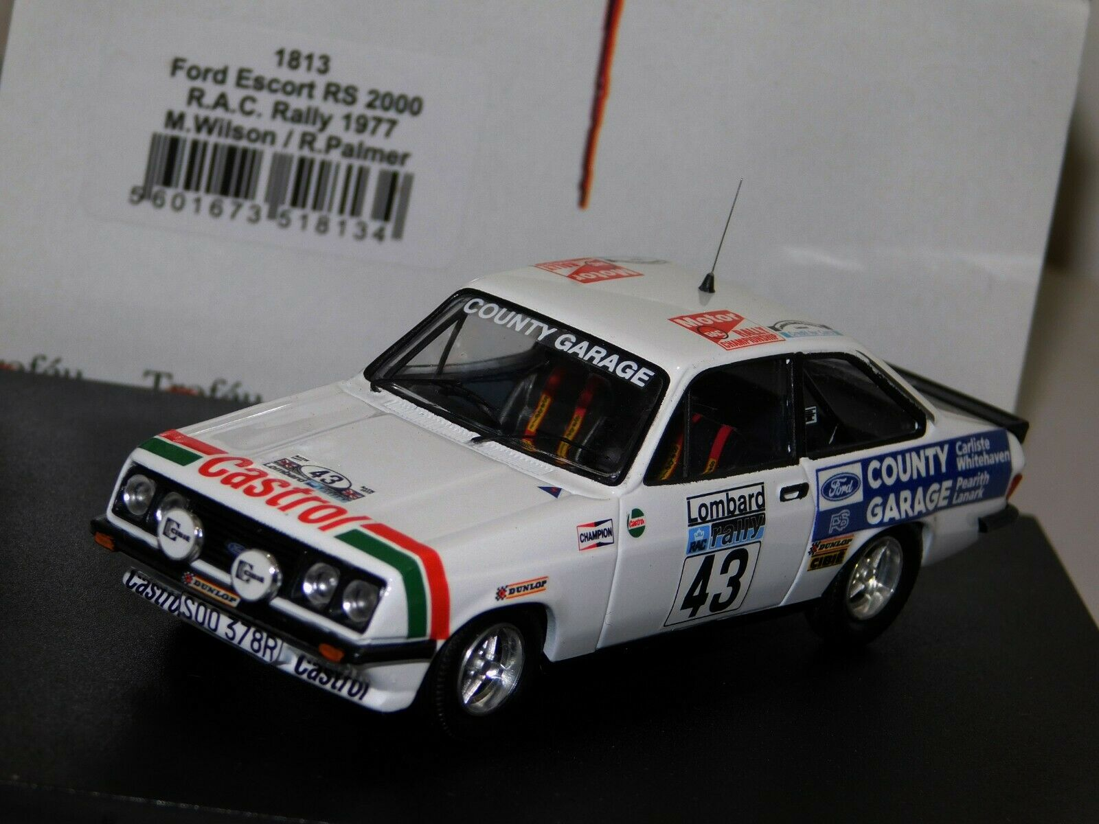 Ford Escort RS2000 Rac Rally 1977  43 Wilson porter TROFEU 1813 1 43
