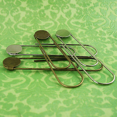 Jumbo / Giant Paper Clips (3 1/2 Inch) Paperclips/Bookmarks w/ Glue Pads Large