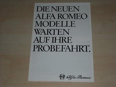 Alfa Romeo Gtv 6 Der GüNstigste Preis 57776 6 Alfetta Prospekt 198? Reines Und Mildes Aroma Giulietta