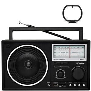 Lenoxx Portable AM/FM Speaker Radio/USB/Micro SD/MMC/Card Port MP3 WMA Player BK