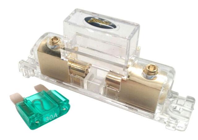 Stinger pro Maxi 4 Or 8 Medidor Dorado en Línea Portafusibles con / 30 Amp