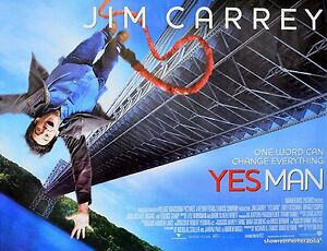Jim Carrey Yes Man Comedy 2008 Original Uk Cinema Movie Poster Ebay