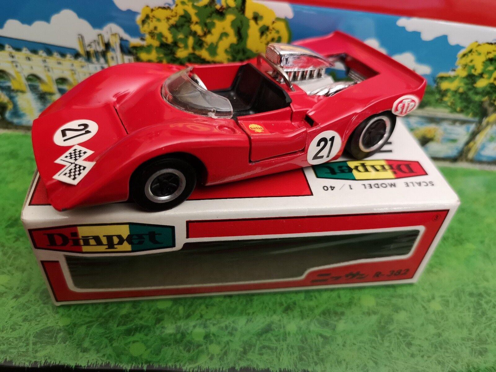 Vintage diapet yonezawa nissan r 382 1 40 red mint in box