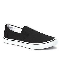 zig zag slipons casual men's shoes canvas black navy or