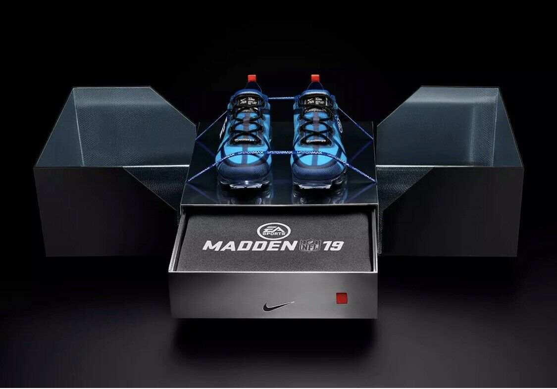 EA SPORTS NIKE VAPORMAX 2019 MADDEN PACK SUPER BOWL Sz 9.5 Rare Only 50 Made