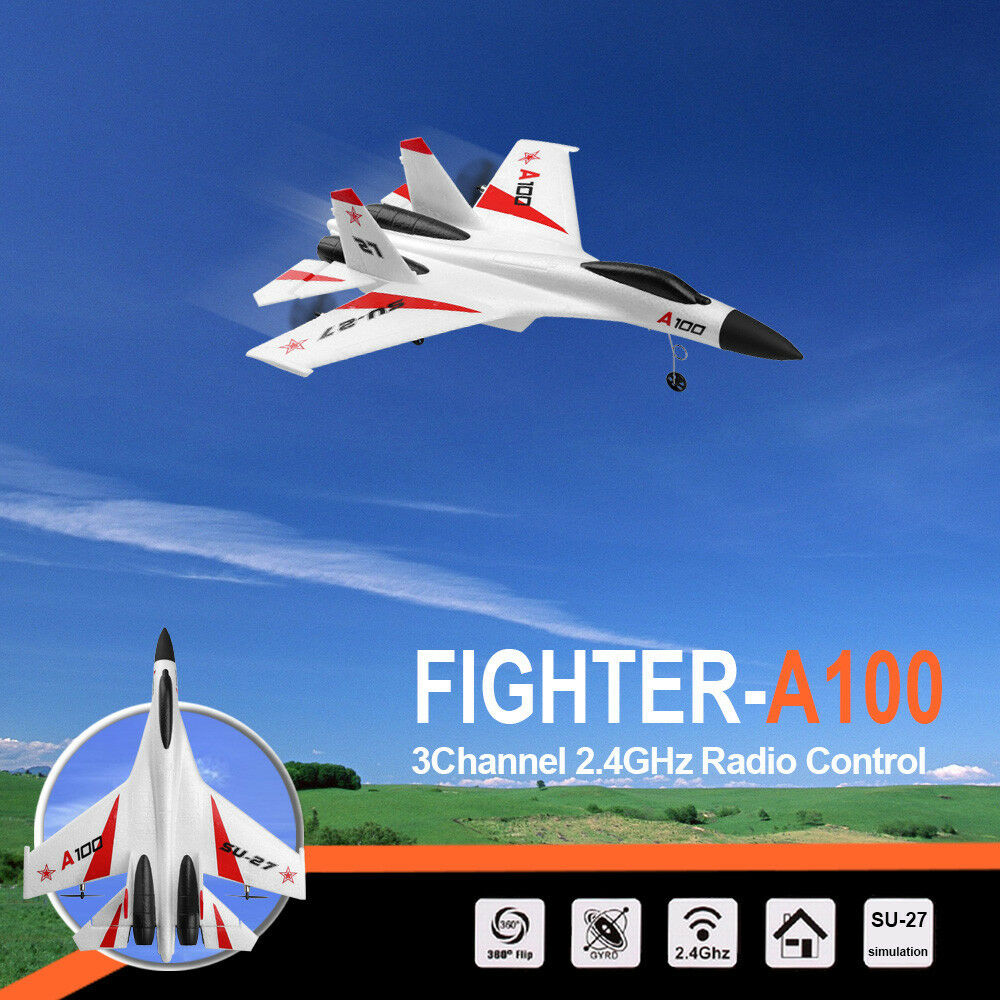 Wltoys a100 su-27 3ch 2.4g rc flugzeug rtf segler - composite - material - drohne