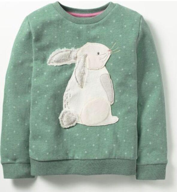 Ex Mini Boden Fluffy Friends Applique Sweatshirts 2 3 4 5 6 7 8 9 10 11 12Yrs