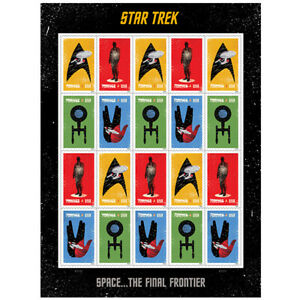 20 USPS STAMPS 2016 STAR TREK Forever Postage Stamps 1 Booklet