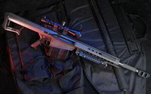 PLAQUE EN MÉTAL fusil sniper   30 X 20 CM