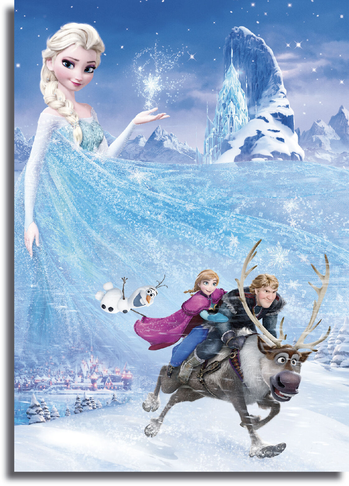 Frozen Movie Elsa Framed Giant CANVAS PRINT  - A0 A1 A2 A3 A4 Größes