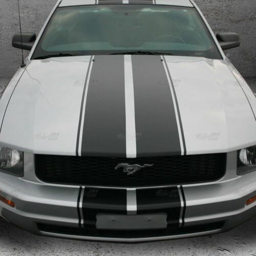 2005-2009 Ford Mustang Bumper to Bumper Full Double Rally Racing Stripes Decals
