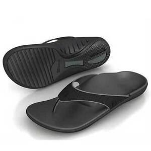 Spenco-Men-039-s-PolySorb-Total-Support-Yumi-Sandals-Black-Pewter