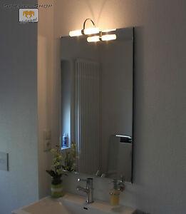 savoy led leucht lampe beleuchteter spiegel mit steilfacette 50x70cm 1 lampe ebay. Black Bedroom Furniture Sets. Home Design Ideas