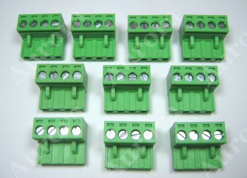 5.08mm Phoenix Plug Terminal Block Set of 10 // 4 pin Speaker Connector