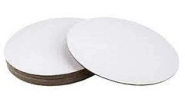 White Cardboard Cake Circle Base 12 Inch 8 Pack Disposable 4369 NEW
