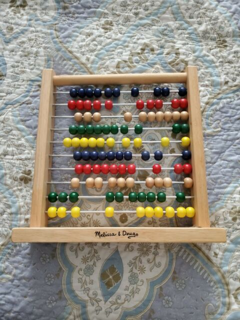 Melissa and Doug Abacus Classic Wooden Developmental Toy ...