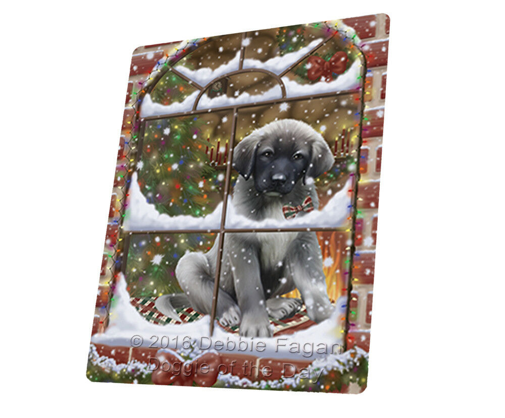 Come Home For Christmas Anatolian Shepherds Woven Throw Sherpa Blanket T326