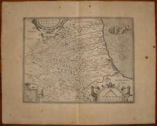 stampa antica mappa carta geografica abruzzo utleriore ortelius 1598 old print