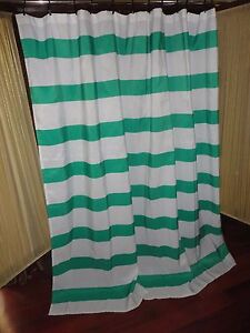 Image Is Loading Room Essentials Rugby Stripe Green Amp White Shower