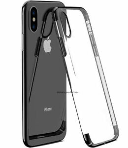 Pour-iPhone-X-amp-XS-case-shock-proof-Crystal-Clear-Soft-Silicone-Gel-Bumper-Housse