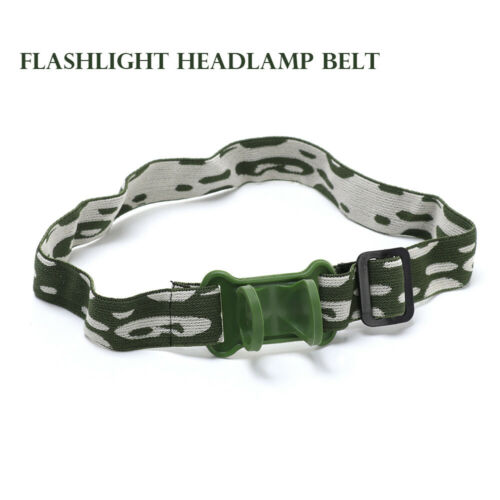 Flashlight Lamp Torch Headlight Mount Holder Headlamp Headband head Belt Strap