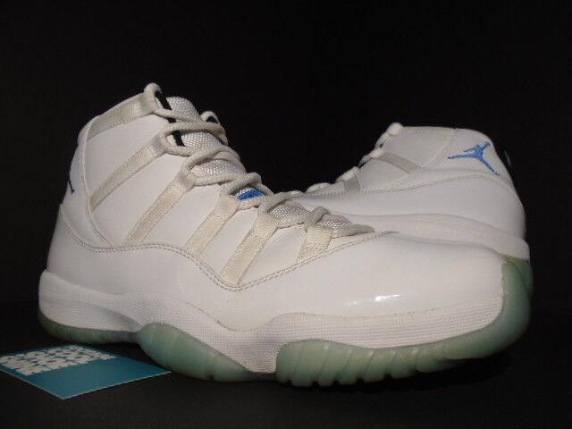 Nike air jordan xi 11 vintage white leggenda blue columbia nero zio 378037-117 10