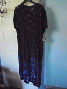 9c6fd62f124 J.G. HOOK Size XLP Rayon Dress New wTag Blue Paisley NEW short ...