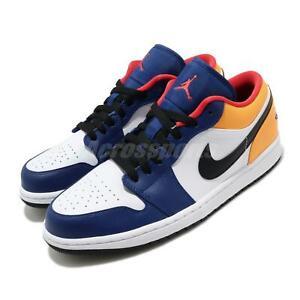 Nike-Air-Jordan-1-Low-AJ1-Royal-Yellow-Blue-White-Black-Red-Men-Shoes-553558-123
