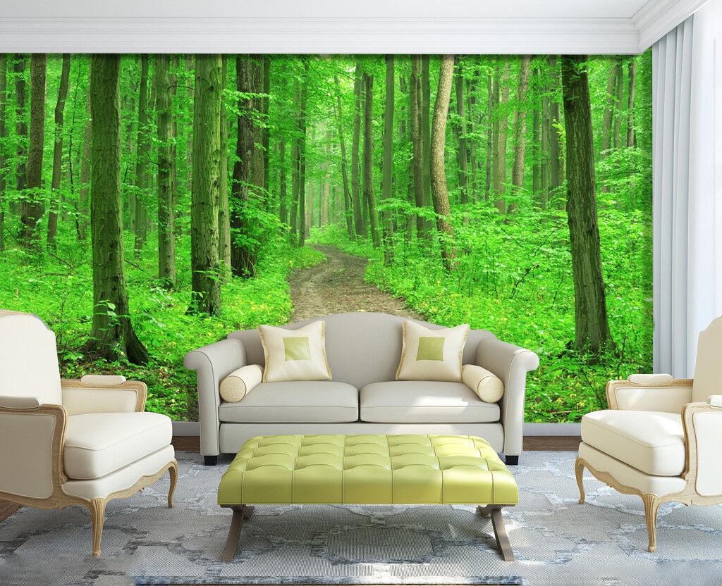 3D Printemps.Forêt Photo Papier Peint en en Peint Autocollant Murale Plafond Chambre Art a976c6