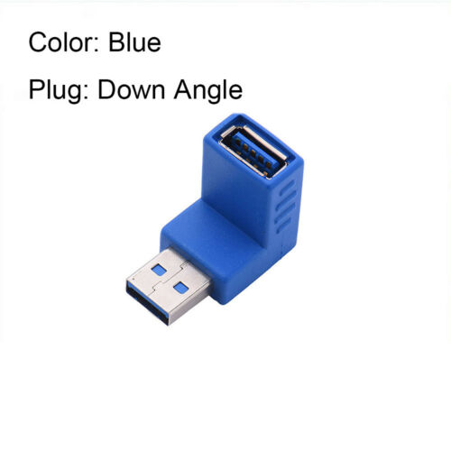 Speed Extension Coupler Type A Male To Female Right+Left USB 3.0 Adapter Plug