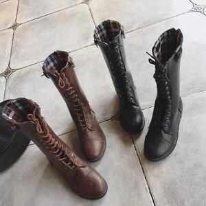 Flache Boden Rom Stiefel Zum Schnuren Riemchen Gladiatoren Schuhe Ebay
