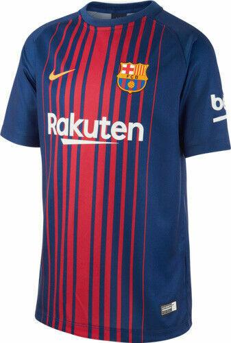 BARCELLONA F.C Ragazzi Blu 2017//18 Nike Home Kit calcio Camicia 12-13 ANNI NUOVO CON ETICHETTA