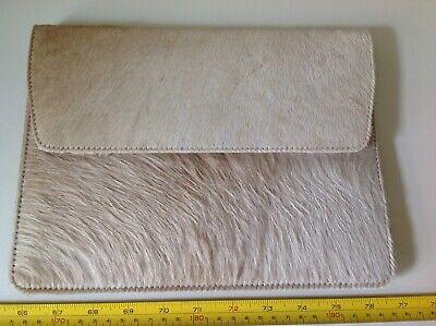 2019 Nuovo Stile Retro Vintage Cream Cavallo Asino Capelli? In Pelle Ipad Custodia Wallet Clutch Bag-mostra Il Titolo Originale Servizio Durevole