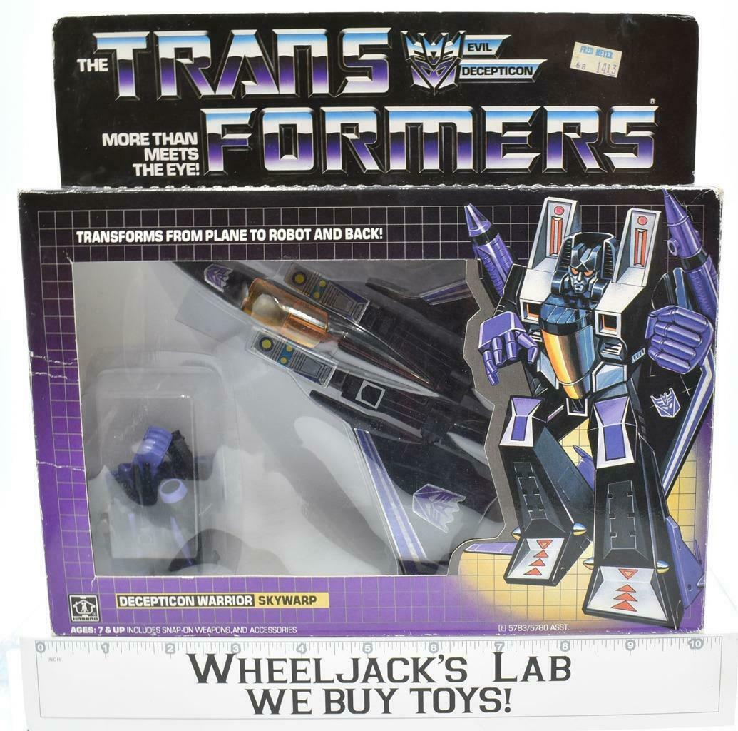 Skywarp MIB 100% Complete L 1985 Vintage Hasbro G1 Transformers Action Figure