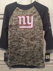 sale retailer b067f 25adf Details about New York Giants NFL Nike Salute to Service Camo 3/4 Sleeve  Mens S M L XL XXL 4XL