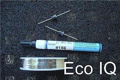 Brave Set 30,5 M Tabbing Draht 1 Flux Stift 2 Dioden Für Solar Cell Panel Elegant In Smell