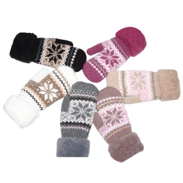 Womens Warm Winter Snow Gloves Mittens Soft Ladies Girls Glove BLACK FRIDAY SALE