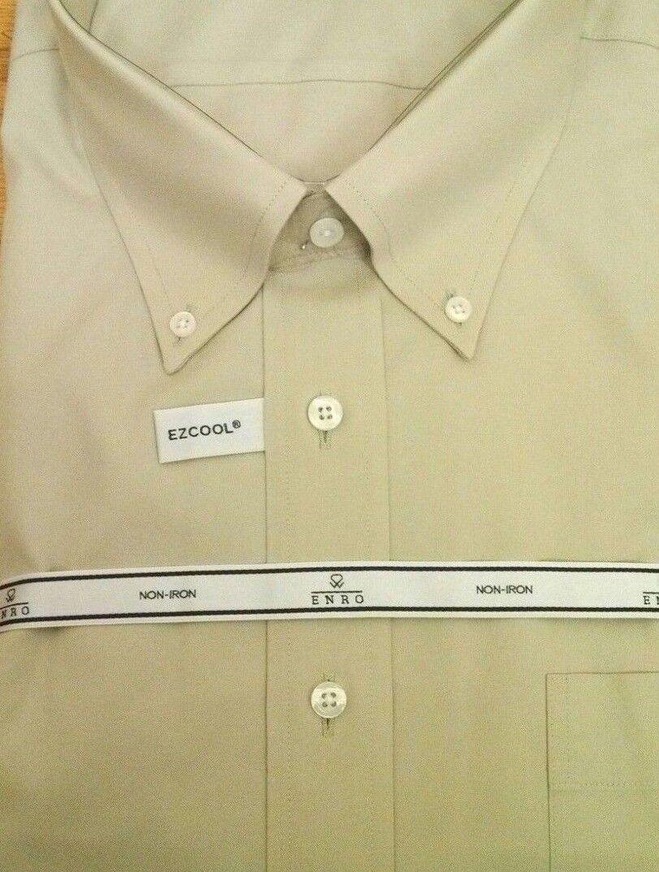 ENRO Dress Shirt 100% Cotton Non-Iron Pinpoint BD Collar 78 NWT 18.5-34/35