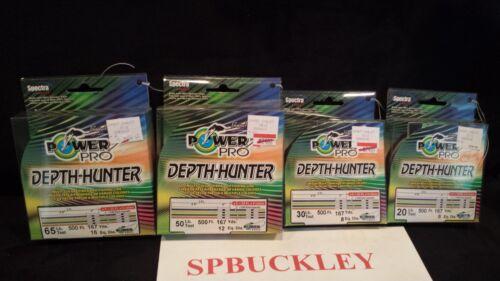 500FT 20,30,50,65LB Power Pro Depth-Hunter  MULTI-COLORED BRAIDED FISHING LINE