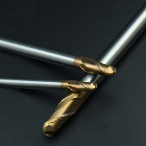2 Flute Milling Cutter HRC55 Ball Nose Solid Carbide End Mill R1.5mm-R10mm For