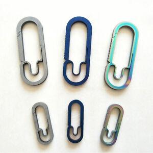 Hot-EDC-Outdoor-Titanium-Alloy-Key-Ring-Car-Keychain-Carabiner-Hook-Gift-US