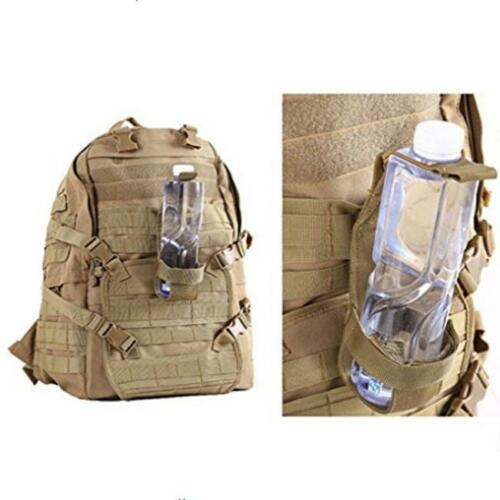 Hiking Camping Nylon Water Bottle Holder Belt Carrier Pouch Tactical Molle Bag F