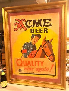 1930-039-s-Kentucky-Derby-Horse-Race-Acme-Cardboard-Beer-Sign-San-Francisco