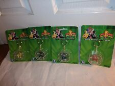 Saban 1993 Power Rangers Vintage Keychain Action Figure Set 4 Pieces NEW OLD STO