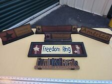 Rustic, Country, Primitive, Painted Wood Signs, Home Decor, Lot N0210236