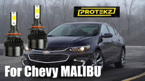 LED MALIBU 2016-2018 Headlight Kit 9005 HB3 6000K White CREE Bulbs Hi//Low Beam